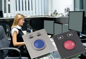 trackball og tastatur til lys og lyd