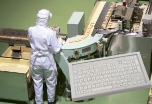 trackball og tastatur til fødevare industri