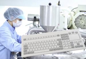 trackball og tastatur til farmaceuter