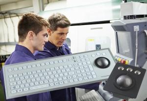 trackball og tastatur til industri