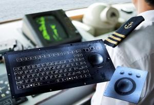 trackball og tastatur til marine