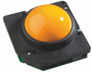 75mm trackball , gul eller sort kugle