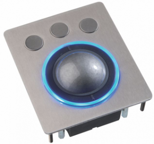 Trackball modul med LED lys-ring.
